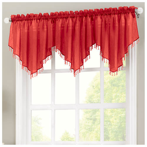 Erica Crushed Voile Valance Color Out Of Stock Stoneberry