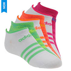 adidas Girls' Superlite 6-pack Low Cut Socks