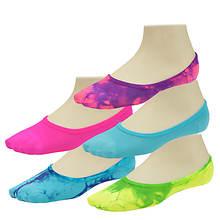 Steve Madden Women's SM27481B 5-Pack Mesh Tie Dye Footies