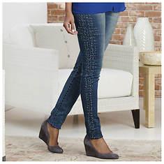Crystal Studded Skinny Jeans