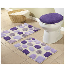 3 Piece River Rocks Bath Rugs Set