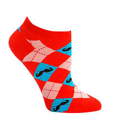 Sock It To Me Women's Ankle Argyle Mustache Socks