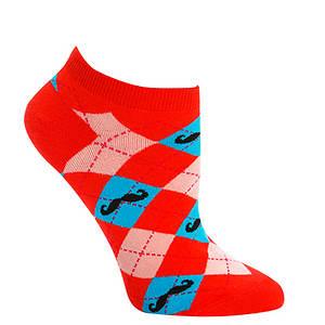 Sock It To Me Women's Ankle Argyle Mustache Socks