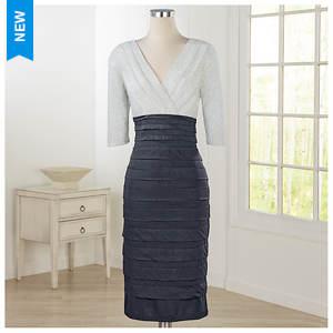 Duotone Shutter Pleat Dress
