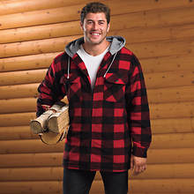Buffalo Plaid Sherpa Shirt-Style Jacket
