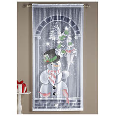 Airbrushed Christmas Lighted Window Panel