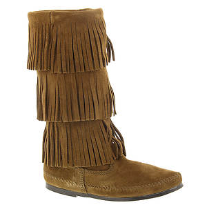 Minnetonka Calf Hi 3-Layer Fringe Boot (Women's)
