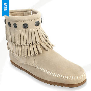 Minnetonka Double Fringe Side Zip Boot (Women's)