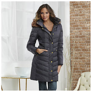 Fur-Trimmed Quilted Jacket
