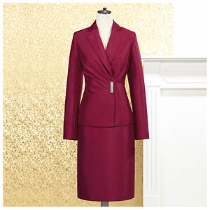 Pleated Skirt Suit