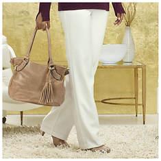 Zipper Pocket Dress Pants
