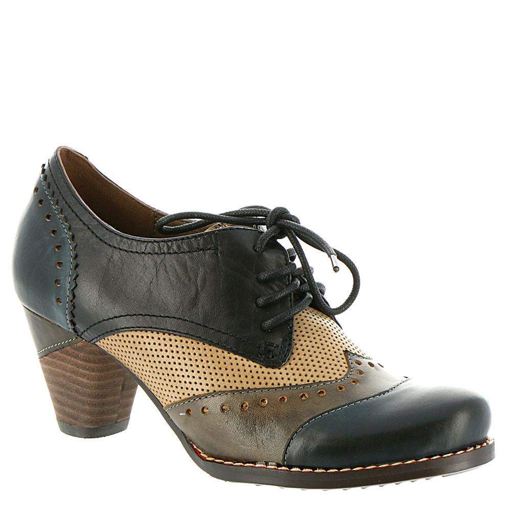70s Shoes, Platforms, Boots, Heels | 1970s Shoes Spring Step LARTISTE Bardot Womens Navy Pump Euro 40 US 9 M $139.95 AT vintagedancer.com