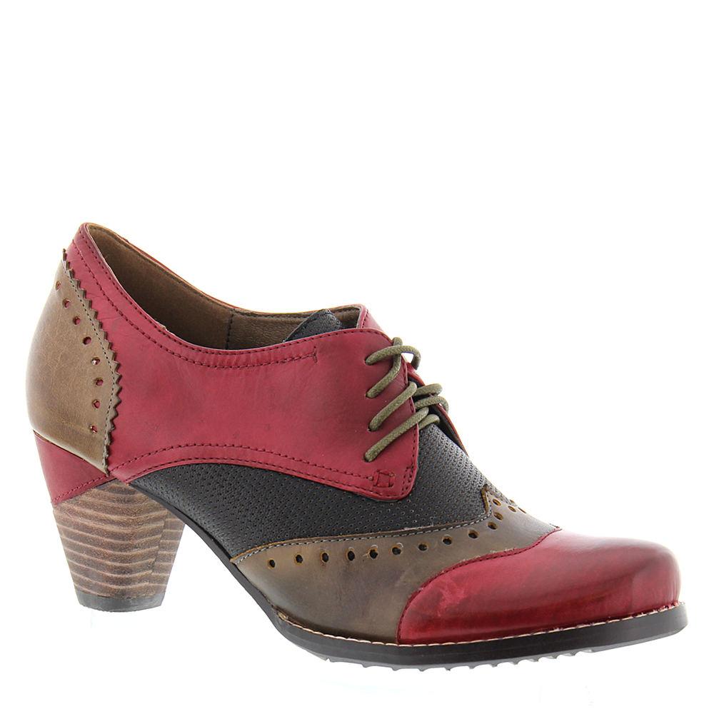 60s Shoes, Go Go Boots   1960s Shoes Spring Step LARTISTE Bardot Womens Red Pump Euro 38 US 7.5 - 8 M $139.95 AT vintagedancer.com