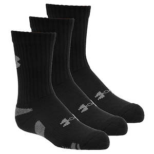 Under Armour Boys' 3-Pack Heatgear(R) Crew Socks