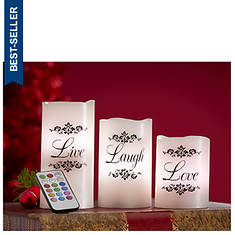 Live, Laugh, Love Color-Changing Candle Set