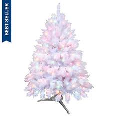 4.5' White Alaskan Tree With Multi Lights