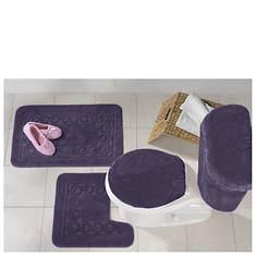 5-Piece Scroll Bath Rug Set