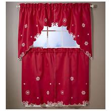 Christmas Tier & Swag Window Sets