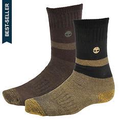 Timberland TM31369 10-inch Wool Blend Boot Socks 2-pack