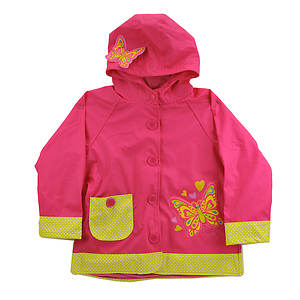 Western Chief Girls' Butterfly Star Raincoat