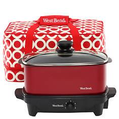 West Bend 5-Quart Oblong Slow Cooker Travel Set