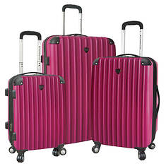 Travelers Club Hardside 3-Piece Luggage Set