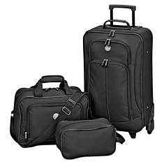 Travelers Club Euro Value 3-Piece Carry-On Luggage Set