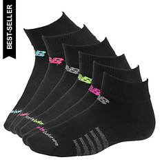 New Balance N5040-364-6 Quarter Socks 6-pack (Women's)