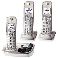 Panasonic Base Unit + 2 Handset Cordless Answering System