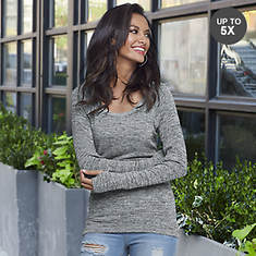 Marled Thumbhole Sweater