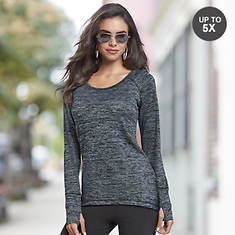 c7384abc53b8df Marled Thumbhole Sweater
