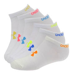 Under Armour Girls' 6-Pair Essential No Show Socks