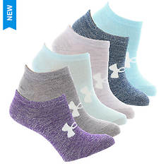 Under Armour Girls' 6-Pair Essential No Show Socks