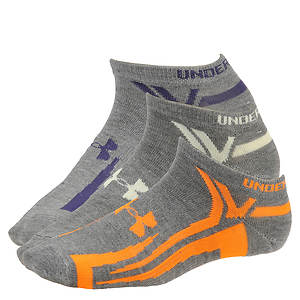 Under Armour Phantom III No Show Socks 3-pack