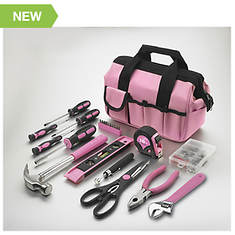 114-Piece Project & Repair Tool Set - Pink