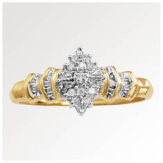 Women's 10K Diamond Crown Ring