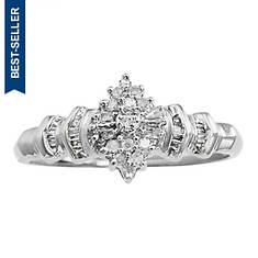 Women's 10K Diamond Crown Ring