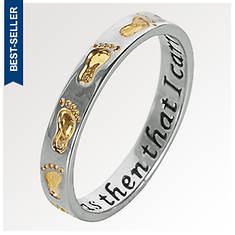 Sterling Silver Footprints Ring