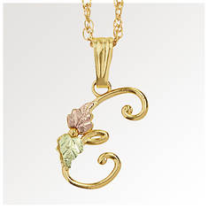 Black Hills Gold 10K Gold Initial Necklace
