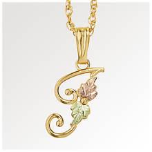 Black Hills Gold 10K Gold Initial Necklace