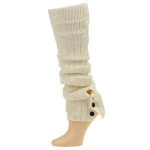 Steve Madden Women's SM13863-ASST 1 Pack Ribbed Legwarmer With Buttons