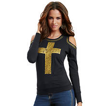 Cold Shoulder Cross Tee