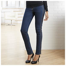 Washed Side-Zip Jeans