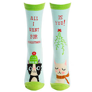 Sock It To Me Women's All I Want for X-Mas Crew Socks