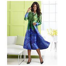Bold Floral Jacket Dress