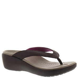 Crocs™ Capri Leather Wedge Flip (Women's)