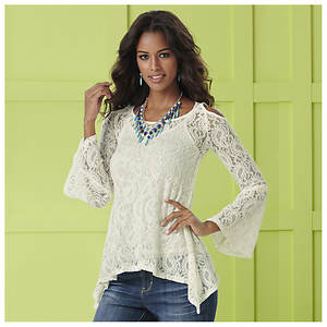 Cold Shoulder Lace Tunic