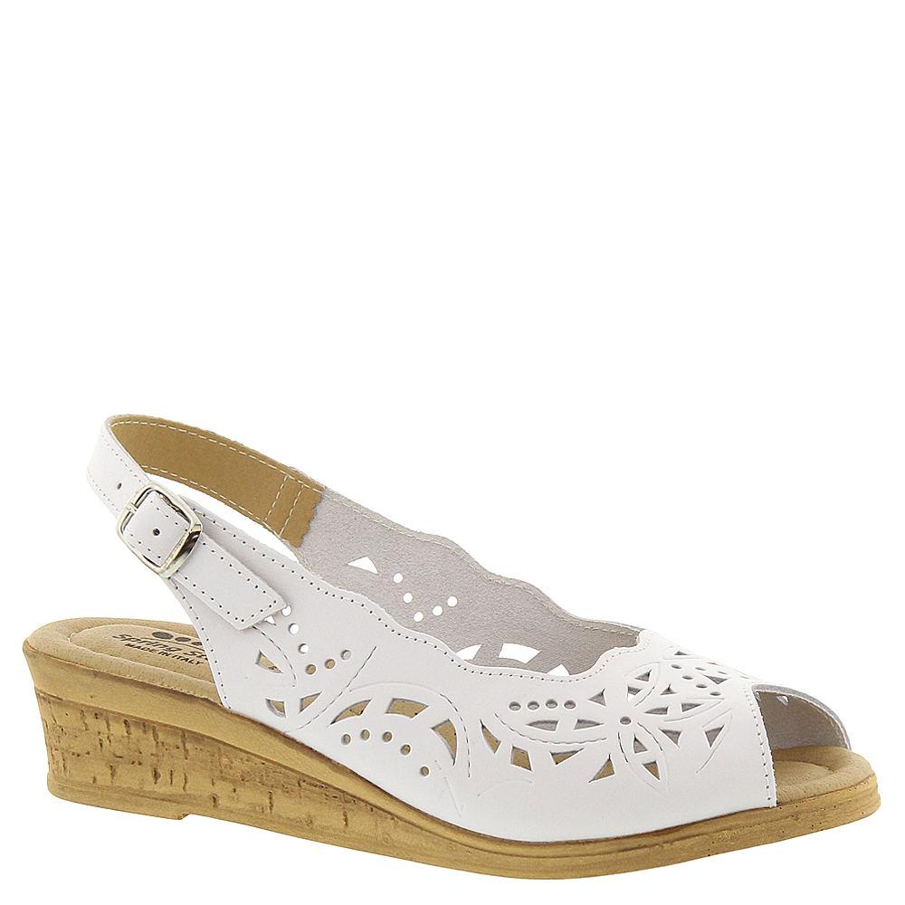 1940s Style Shoes, 40s Shoes Spring Step Orella Womens White Sandal Euro 36 US 5.5 - 6 M $59.95 AT vintagedancer.com