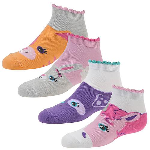 Stride Rite Girls' 4-Pack Mallory Quarter Socks