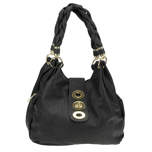 Braided Handle Shoulder Bag